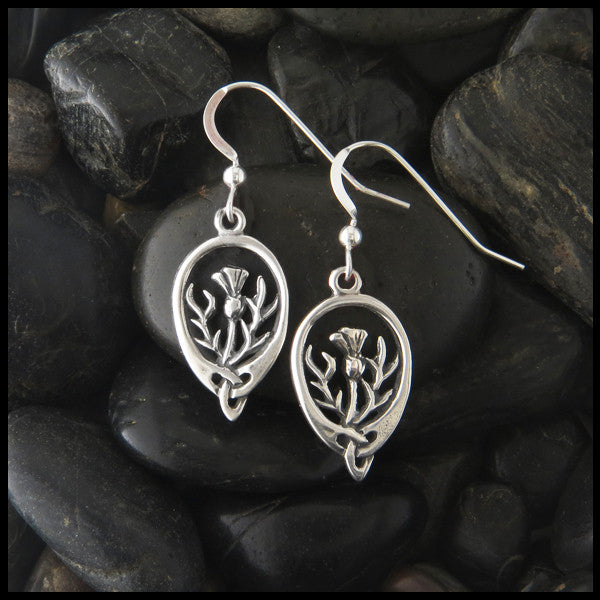 6a358a83d Thistle earrings in Sterling Silver; Thistle drop earrings in Sterling  Silver ...