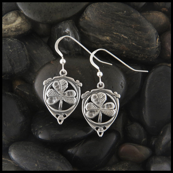 Shamrock Drop earrings in Sterling Silver