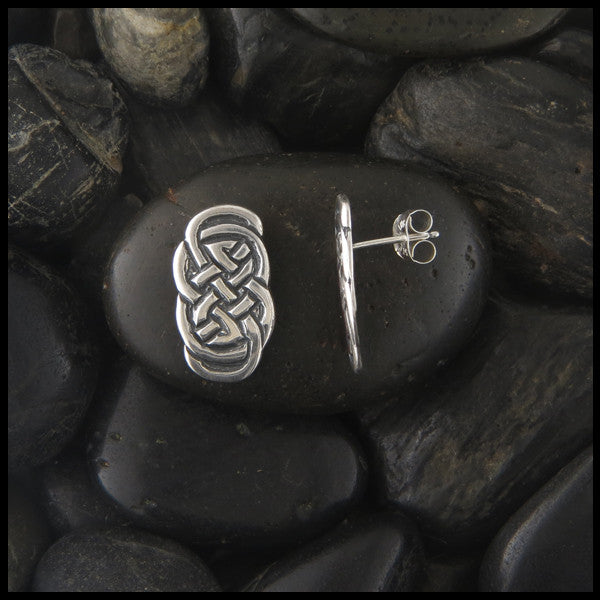 Eternity Knot Post Earrings in Sterling Silver