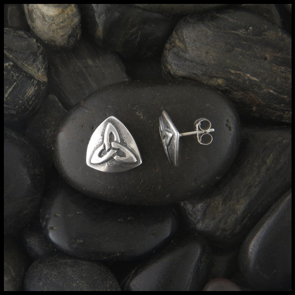 Triquetra post earrings in Sterling Silver
