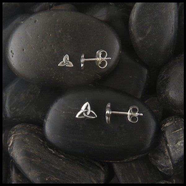 Small Triquetra post earrings in Sterling Silver