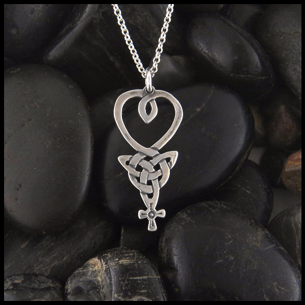 Irish Knot An Teor Pendant in Sterling Silver