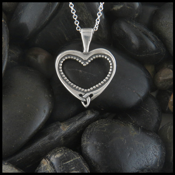 Ornate heart pendant in Sterling Silver
