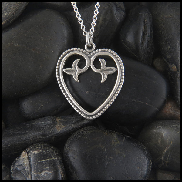 Ornate Celtic heart pendant in Sterling Silver