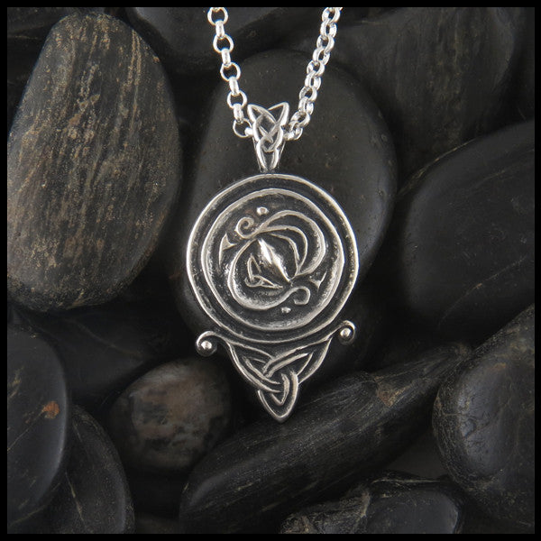 Celtic triquetra spiral pendant in Sterling Silver