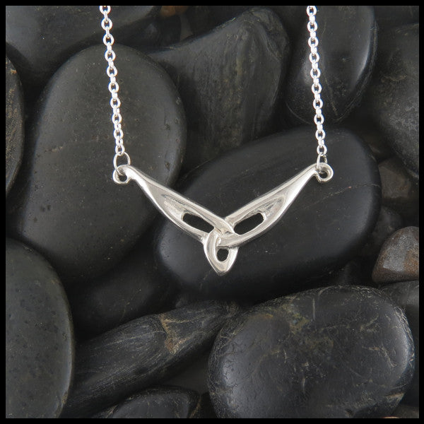 Triquetra Knot bar pendant in Sterling Silver