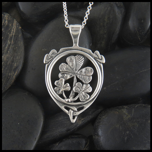 Large Shamrock pendant in Sterling Silver