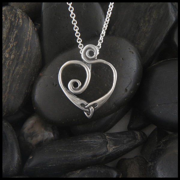 Celtic annas heart pendant in sterling silver walker metalsmiths celtic spiral heart pendant in sterling silver aloadofball Images