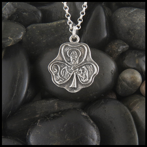 Saint Patrick pendant in Sterling Silver
