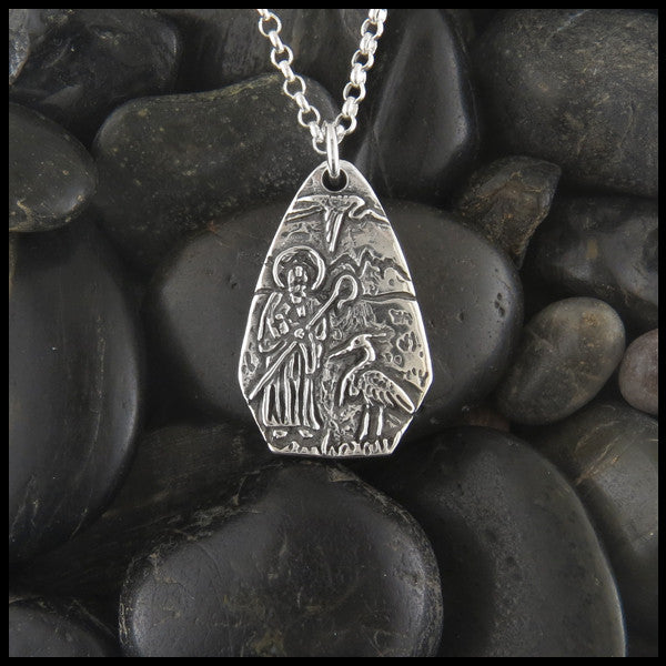 Saint Columba pendant in Sterling Silver