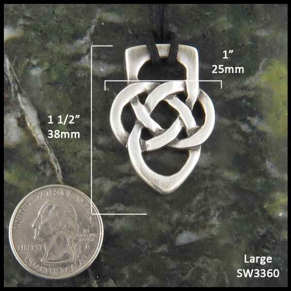 Fathers Knot Pendant Or Key Ring In Silver Walker Metalsmiths