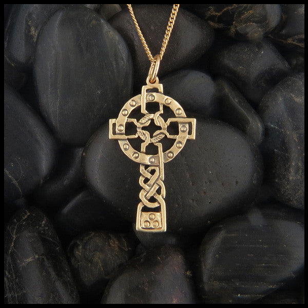 Open Celtic Knot Cross in 14K Gold