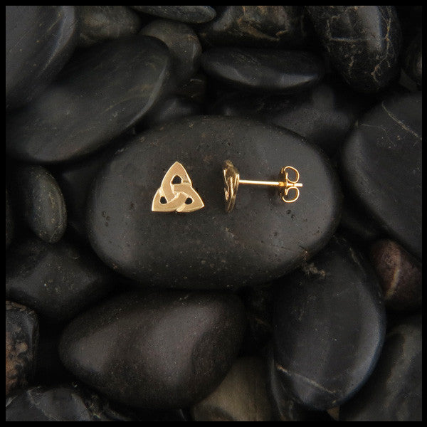 Trinity Knot Single Earring in Gold (Half Pair)