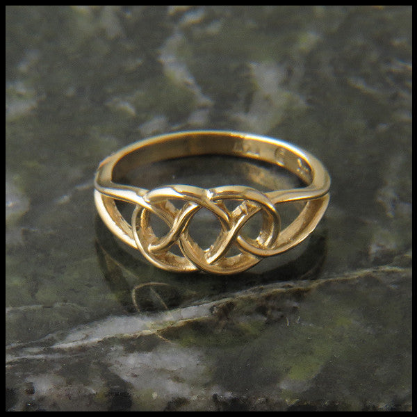 Josephine's Knot, Lover's Knot, Ring in 14K Gold
