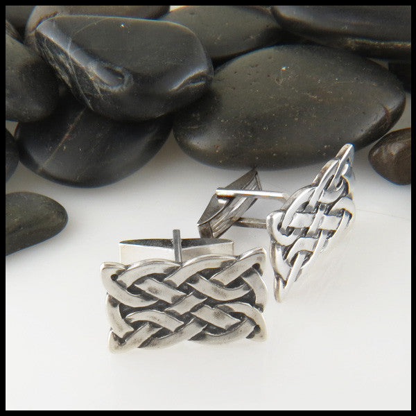 St Andrew Knot Cuff links in Sterling Silver