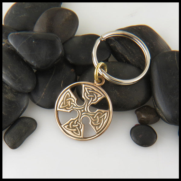 Medallion Cross Key Chain