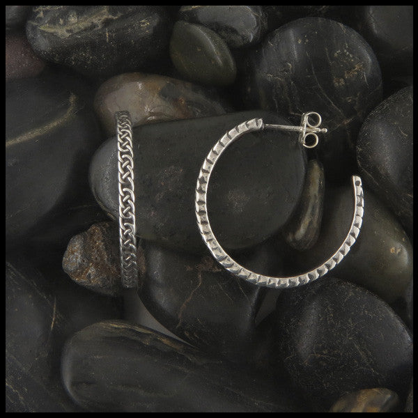 Josephine's Knot Hoop earrings in Sterling Silver
