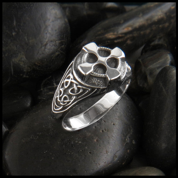 Ornate Celtic Cross Ring