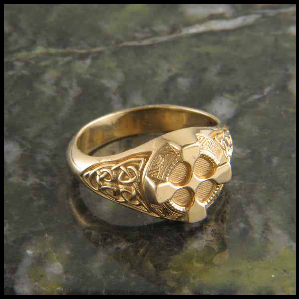 Ornate Celtic Cross Ring in 14K Gold