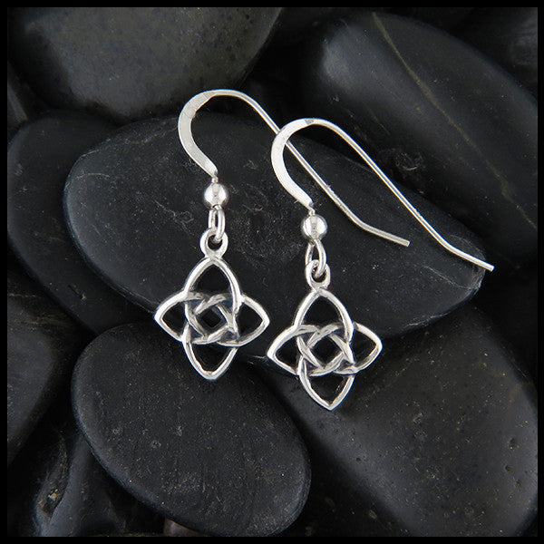 Celtic Starlight Knot Earrings in Sterling Silver