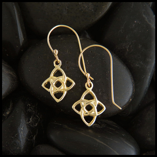 Starlight Celtic Knot earrings in Gold