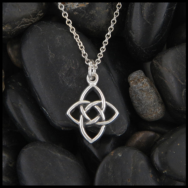 necklaces celtic knot triquetra necklace topaz trinity collections pendants pendant cross