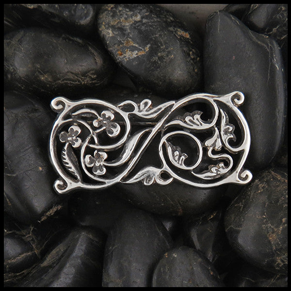 Floral Brooch in Sterling Silver