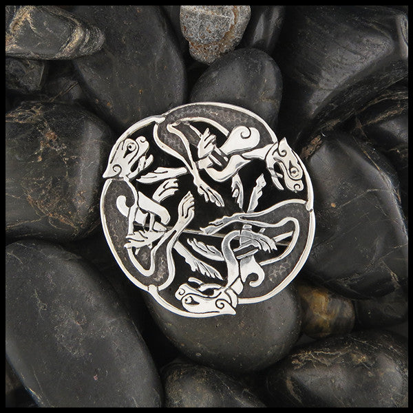 Zoomorphic brooch in Sterling Silver