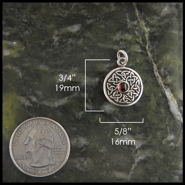 Celtic Wheel of life pendants in Sterling Silver with Gemstones