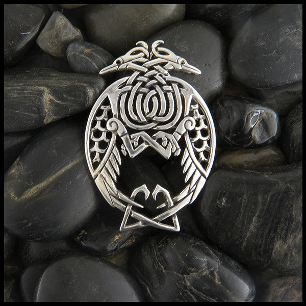 Heron Celtic Brooch