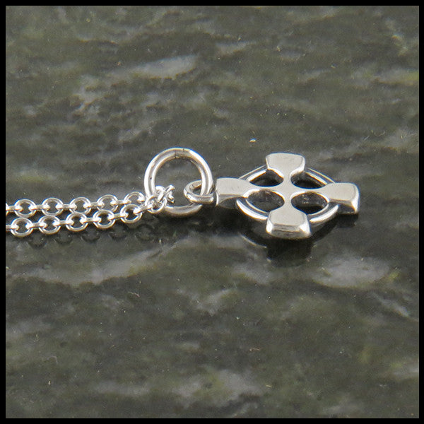 Celtic Sterling Silver Cross Pendant Equal Arm