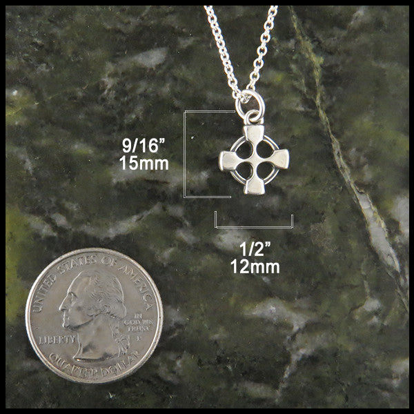 Small celtic cross pendant walker metalsmiths jewelry