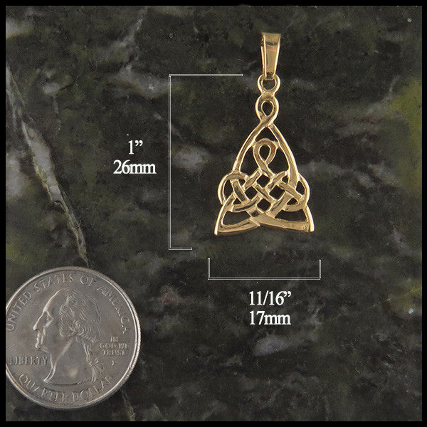Mother's knot pendant in 14K Gold