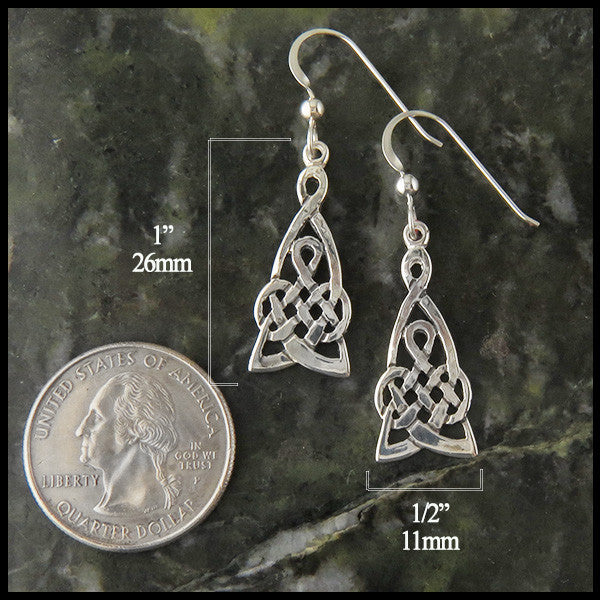 Celtic Earrings by Walker Metalsmiths