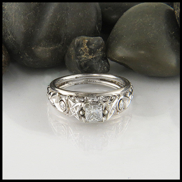 Cathedral Engagment Ring