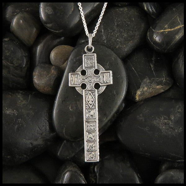 Cross of Moon sterling silver