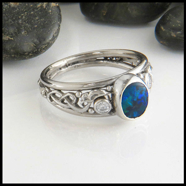 Black Opal Custom Ring