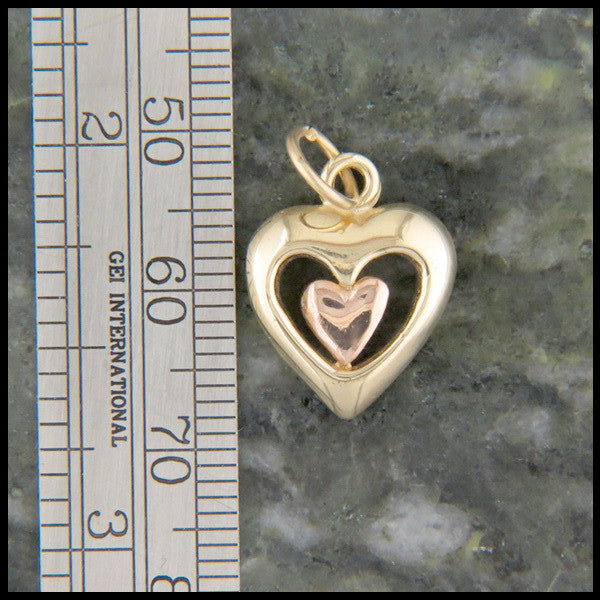 Gold Heart Pendant with Diamond