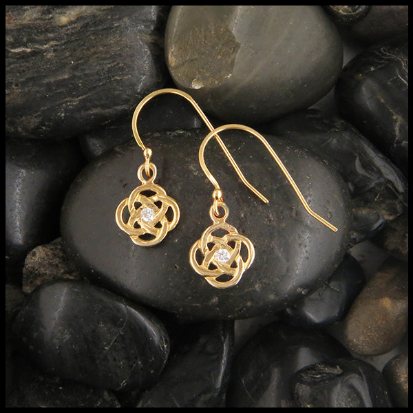 Celtic Josephine's knot earrings in Gold