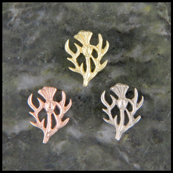 Scottish Thistle Post Single Earring (Half Pair)