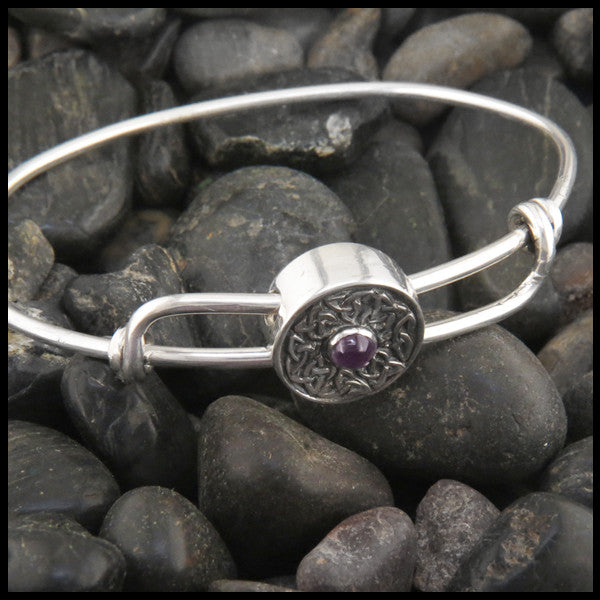 Wheel of life adjustable Bracelet in Sterling Silver