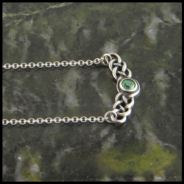 Birthstone pendant celtic jewelry sterling silver bar necklette