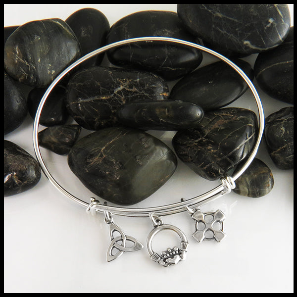 Celtic Adjustable Bangle Bracelet