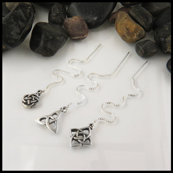 Threader Earrings in Sterling Silver