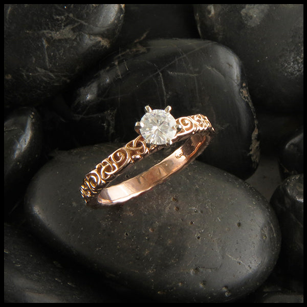 Celtic Trinity Knot Diamond Engagement Ring