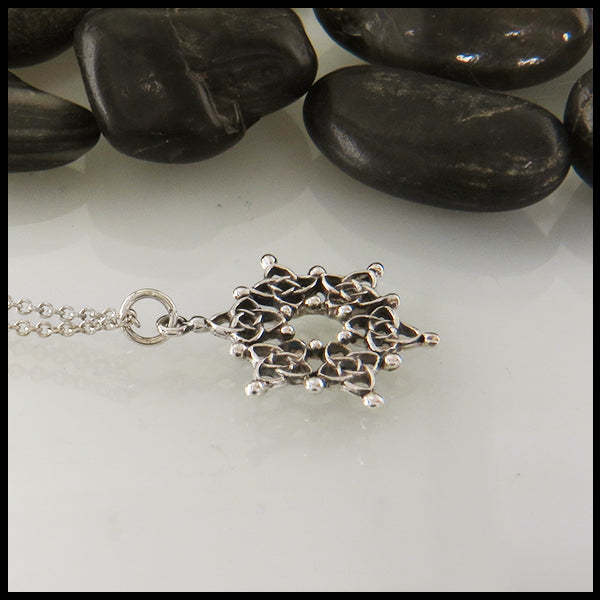 Celtic Snowflake Pendant in Sterling Silver