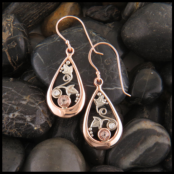 Gold Morganite earrings