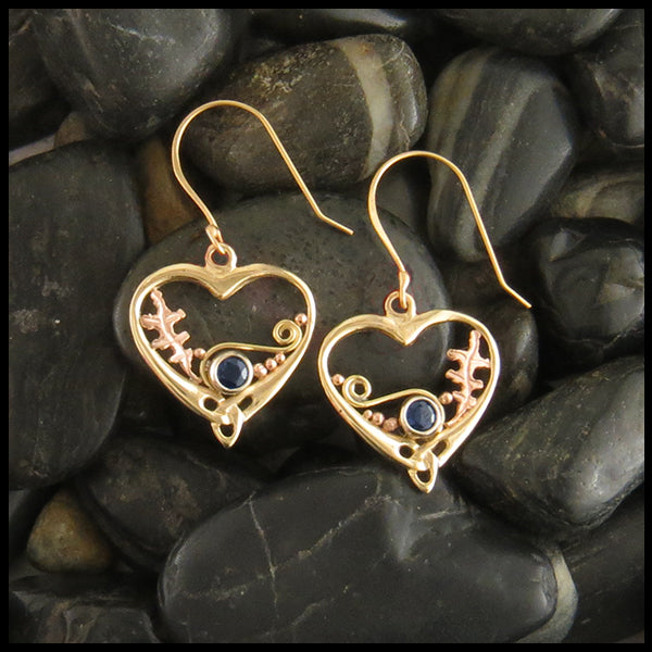 Heart Sapphire Earrings