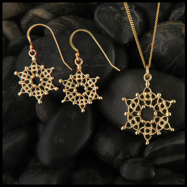 Celtic Snowflake in 14K Gold