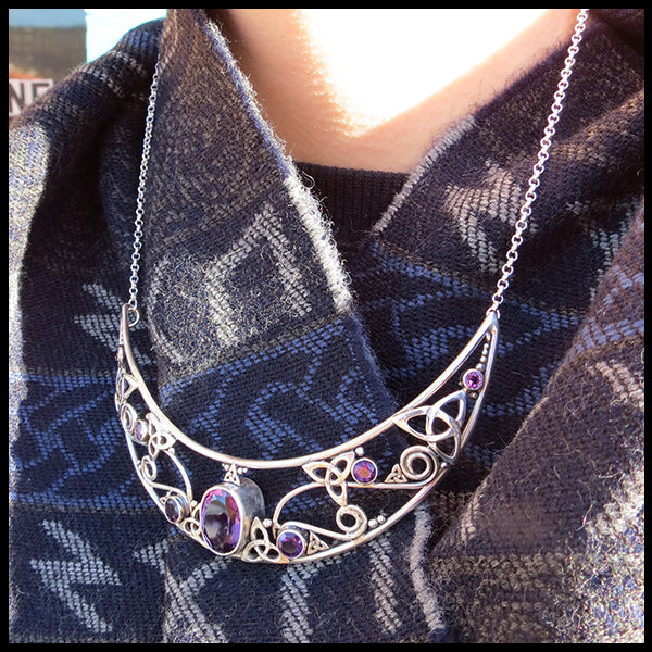 Celtic bib necklace